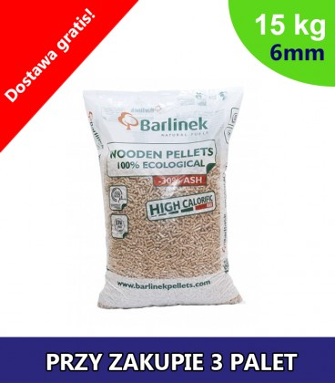 Pellet Barlinek 6mm 3 PALETY po 990kg