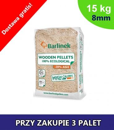 Pellet Barlinek 8mm 3 PALETY po 990kg