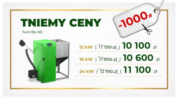 """Oferta specjalna """"TNIEMY CENY"""" na kotły Twin BIo NE"""